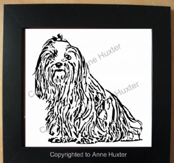 Shih Tzu long Haired Dog Template